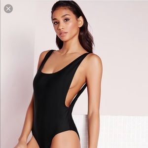 Misguided side boob one piece swimsuit